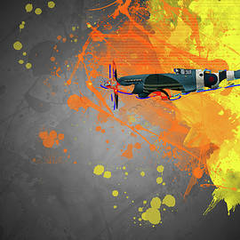 Spitfire Modern Art by Darren Wilkes
