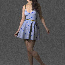 Spring dress by Joaquin Abella