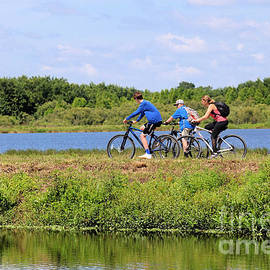 Spring Family Bike Ride by Diann Fisher