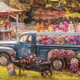 Spring Flowers for Sale Painting by Debra and Dave Vanderlaan