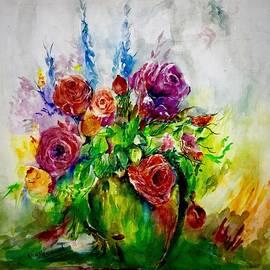 Spring in vase by Khalid Saeed
