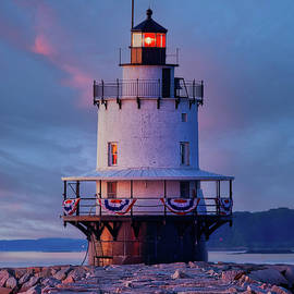 Spring Point Ledge Lighhouse Sunset by Jerry Fornarotto