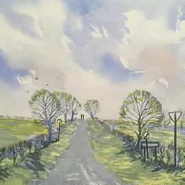 Spring Sky over York Road, Kilham by Glenn Marshall