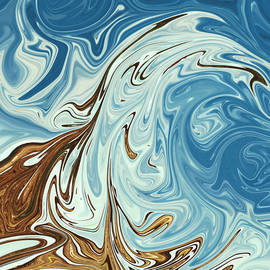 Spring Waves - Best colorful painting, abstract wall art, oil painting by Triple F co