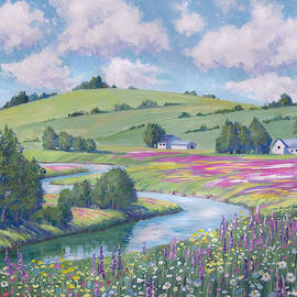 Spring Wildflower Meadows by David Lloyd Glover