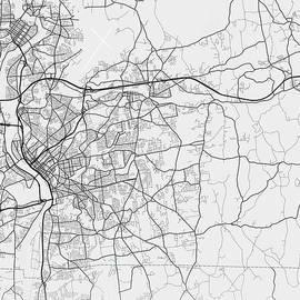 Springfield  -  Massachusetts  US Gray City Map by Tien Stencil