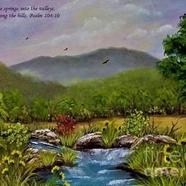 Springs In The Valleys2 by Karen Tauber