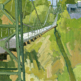 Spruce Street Suspension Bridge by Paul Strahm