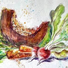 Squash, Carrots and Radishes by Mariia Browne