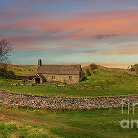 St Celynins Church Sunset by Adrian Evans