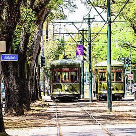 St. Charles and Audubon Streetcar by Scott Pellegrin