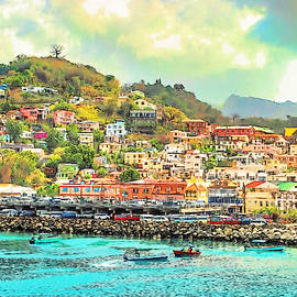 St Georges, Grenada from the Harbor - DWP4649968 by Dean Wittle