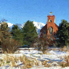 St. Ignatius Mission, Montana - Painting by Tatiana Travelways