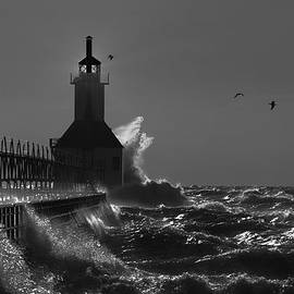 St Joseph Lighthouse BW by Michael Rucker