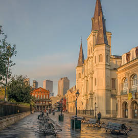St Louis Cathedral  by Mitch Mire