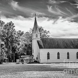 St. Margaret Catholic Church BW - Springfield Louisiana by Scott Pellegrin