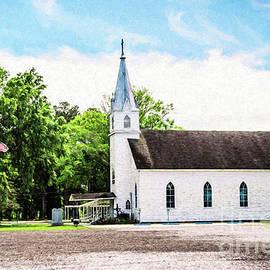 St. Margaret Catholic Church Springfield Louisiana - digital painting by Scott Pellegrin