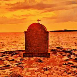 St. Nicholas Chapel At Sunset by Antonia Surich