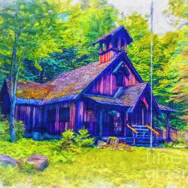 St. Olaf's Chapel, Eagle Bay, New York 1 by Linda Weinstock