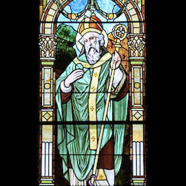 St. Patrick Window Fargo North Dakota by J Laughlin