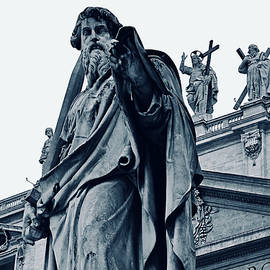 St. Paul in front of St. Peter's Basilica, Vatican City by Joe Vella