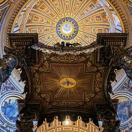 St Peter Basilica Interior Dome And Baldacchino  by Artur Bogacki