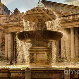 St. Peter's Square Fountain by Diana Wind