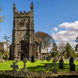 St Petroc Church in Lydford, Devon by Maggie Mccall