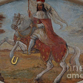 St Wenceslaus rides prancing charger At The Golden Horseshoe in Prague, Czechia / Czech Republic by Terence Kerr