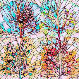 Stained Glass Four Seasons by Debra and Dave Vanderlaan