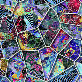 Stained Glass Patchwork - series  non-objective   by Grace Iradian