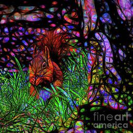 Stained glass squirrel by Birgitta Astrand