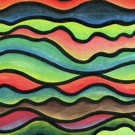 Stained Glass Waves by Mary Walchuk