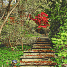 Stairway to Fall by Maria Keady