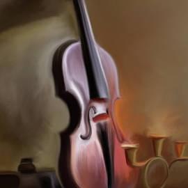 Standing Violin  by Omid Gohardani