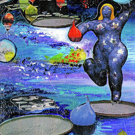 Star Lady Galactic Music Of The Spheres by Genevieve Esson