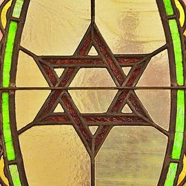 Star of David in Stained Glass by Linda Covino