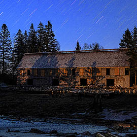 Star Trails and First Light at the Smokehouse by Marty Saccone