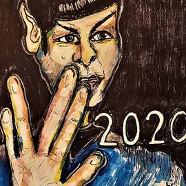 Star Trek Leonard Nimoy as Spock by Geraldine Myszenski