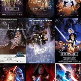 Star Wars Trilogy Movie Posters Collage by Lingfai Leung