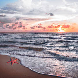 Starfish Treasure in Soft Beach Tones by Debra and Dave Vanderlaan