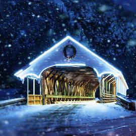 Stark Covered Bridge in Snow by Joann Vitali