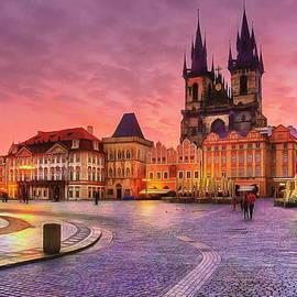 Staromestske Namesti, Prague by Jerzy Czyz