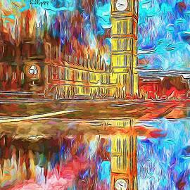 Starry night - Big Ben by Nenad Vasic