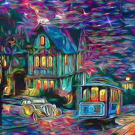 Starry night in old street by Nenad Vasic