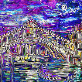 Starry night in Venice by Nenad Vasic