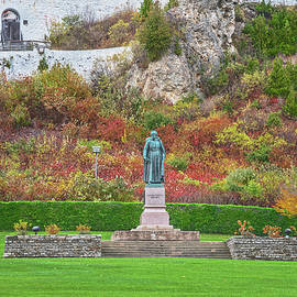 Statua Is Latin For Pillar, Bust, Or Column. Father Jacques Marquette, Mackinac Island, Michigan by Bijan Pirnia