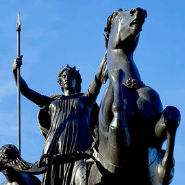 Statue of Queen Boadicea with spear and chariot, Westminster Bridge, Westminster, London, England. by Joe Vella
