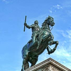 Statue Of Felipe I V  # 2 - Madrid Royal Palace by Allen Beatty