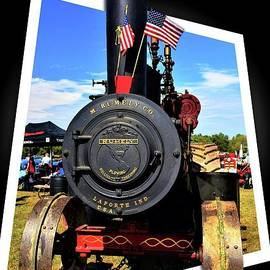 Rumely Steam Engine Framed by Suzanne Wilkinson